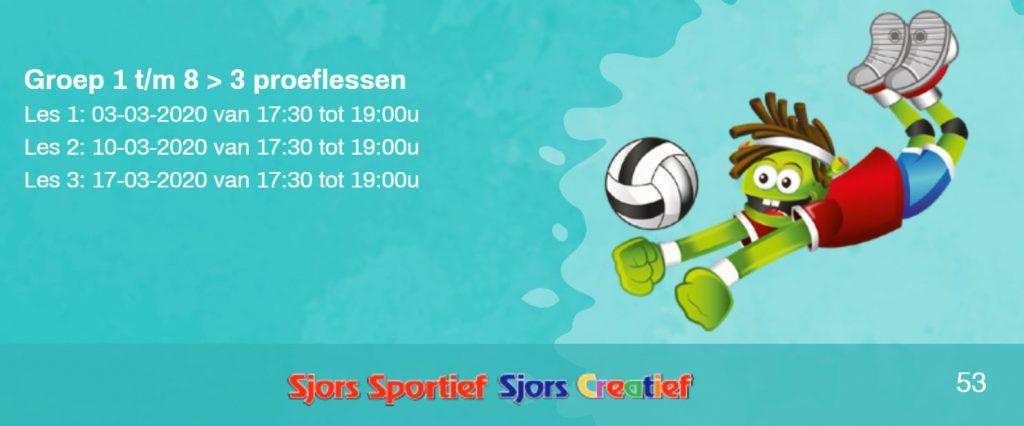 Dinsdag a.s. 1e Proeftraining Sjors Sportief!