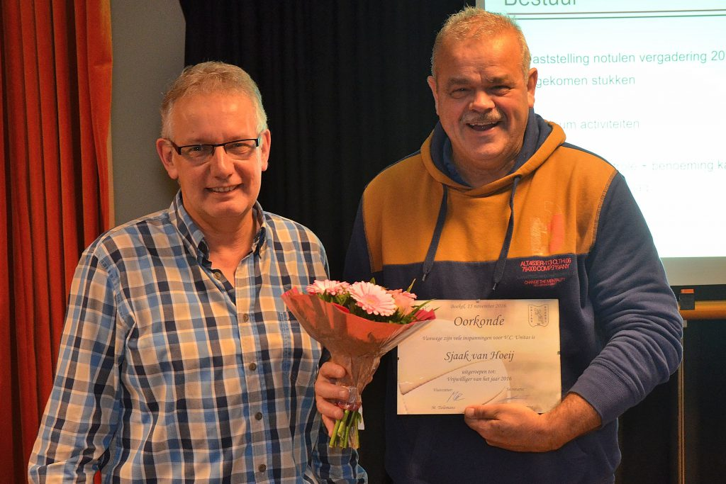 Vrijwilliger van het Jaar 2016: Sjaak van Hoeij !